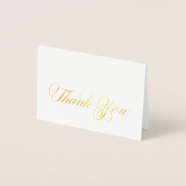 Calligraphy Script Gold Foil Thank You Note Foil