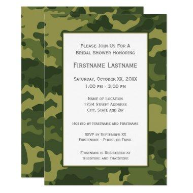 Camo Bridal Shower or Engagement Party Invitations