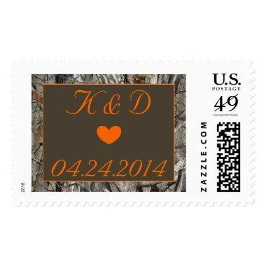 Camo heart and initials stamp