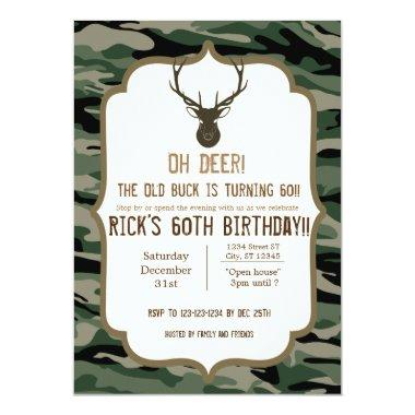 Camouflage - Oh Deer - The old buck is turning Invitations
