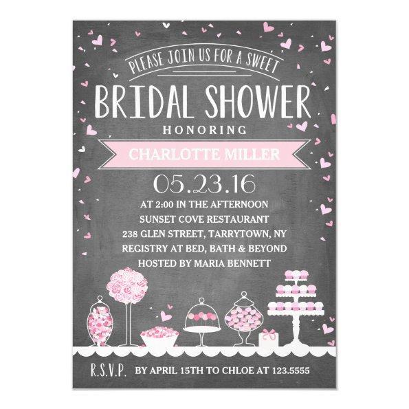 Candy Bar   Bridal Shower Invitations