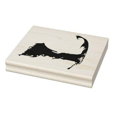 Cape Code Massachusetts Map Rubber Stamp