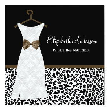 Carafe Brown Gown Leopard Print
