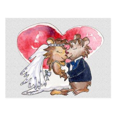 Cartoon Wedding Dance Couple Post