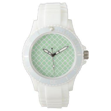Celadon Quatrefoil Wristwatch