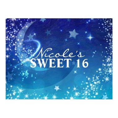 Celestial Sky Moon Sparkle Party Save the Date PostInvitations
