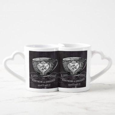 Chalkboard Alice in Wonderland tea party teacup Coffee Mug Set