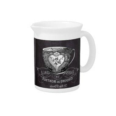 Chalkboard Alice in Wonderland tea party teacup Drink Pitcher