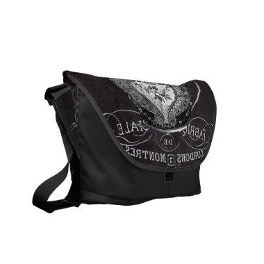 Chalkboard Alice in Wonderland tea party teacup Messenger Bag