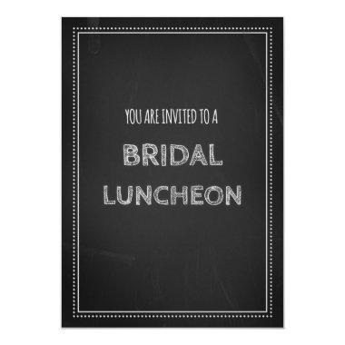 Chalkboard Bridal Lunch Invitation