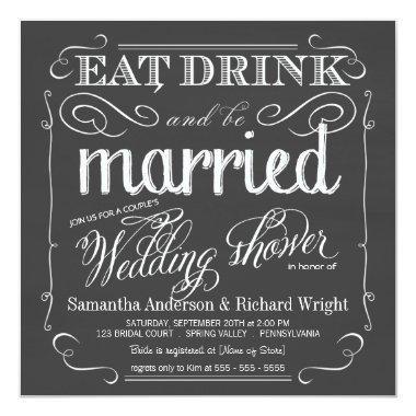 Chalkboard Couples Wedding Shower