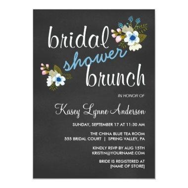Chalkboard Floral  Brunch Invites