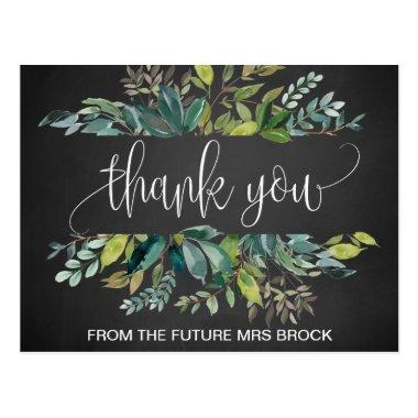 Chalkboard Foliage Thank You Post