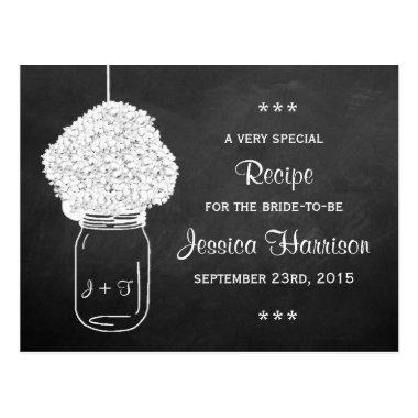 Chalkboard Hydrangea Mason Jar Bridal Recipe
