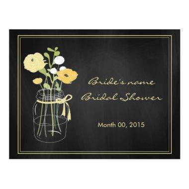 Chalkboard Mason Jar Bridal Shower Advice Cards
