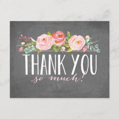 Chalkboard Rose Garden | Thank You