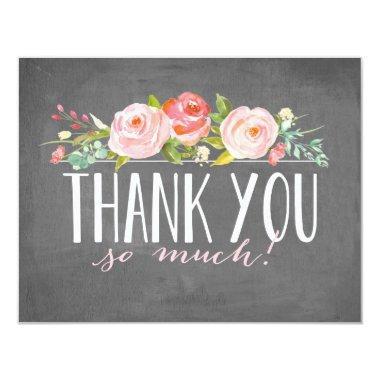Chalkboard Rose Garden   Thank You