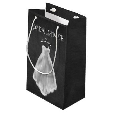 Chalkboard Wedding Dress Bridal Shower Gift Bag