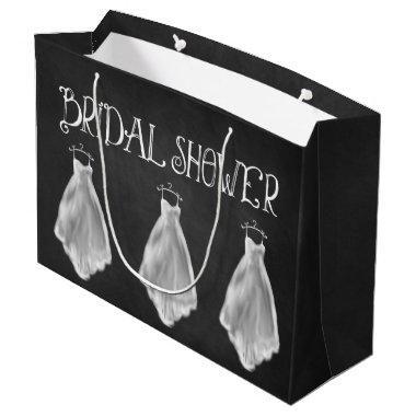 Chalkboard Wedding Dress  Gift Bag