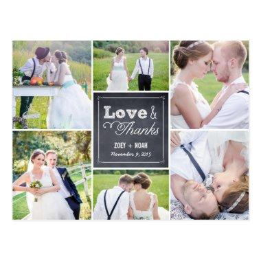 Chalked Collage Wedding Thank You