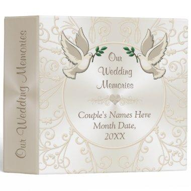 Champagne Colored Personalized Wedding Photo Album Binder