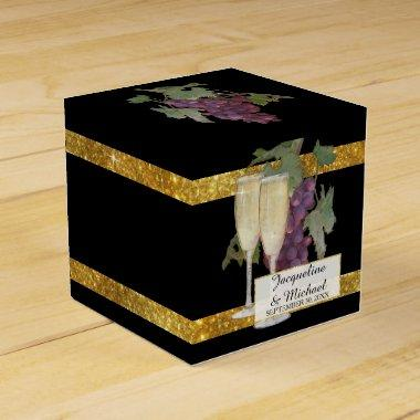 Champagne Winery Vineyard Wedding Reception Favor Favor Box