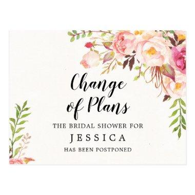 Change of Plans Bridal Shower Postponed PostInvitations