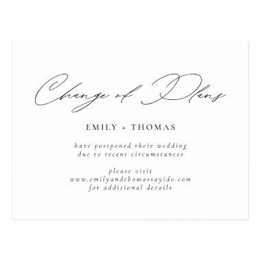 Change of Plans Minimalist Modern Script PostInvitations