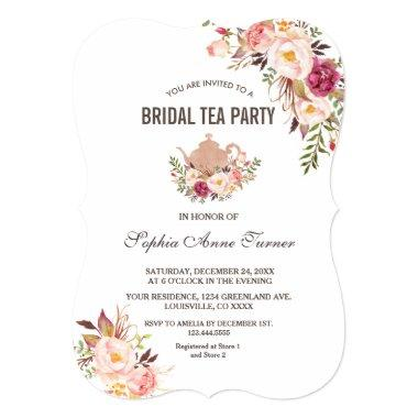Charm Blush Pink Floral  Tea Party