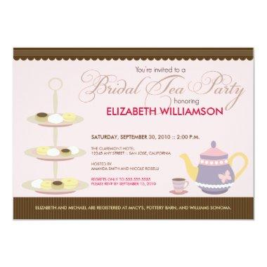 Charming Bridal Tea Party Invitations (pink)