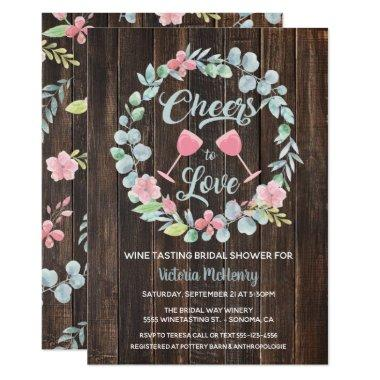 Cheers to Love Wine Tasting Bridal Shower Invites