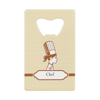 Chef Logo Personalized Can Opener with Name