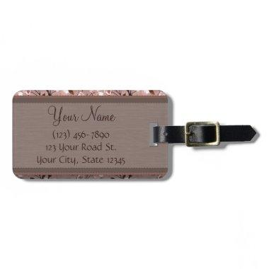 Cherry Blossoms with Lace Monogram Luggage Tag