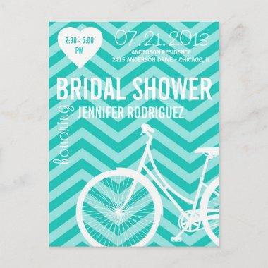 Chevron Bicycle Bridal Wedding Shower Post