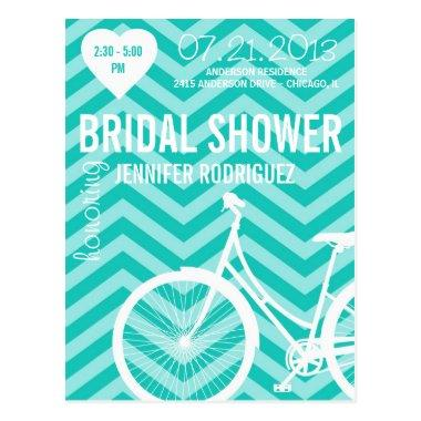 Chevron Bicycle Bridal Wedding Shower Post
