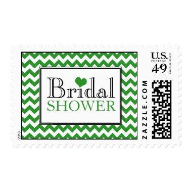 Chevron Green & White  Postage Stamps
