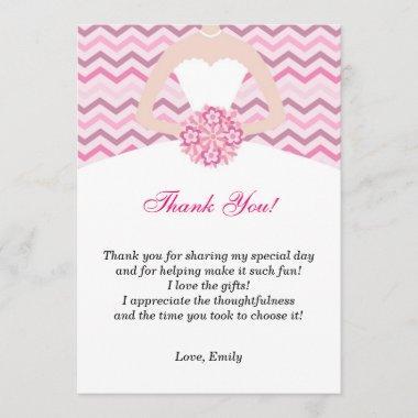 Chevron Pink  Thank You