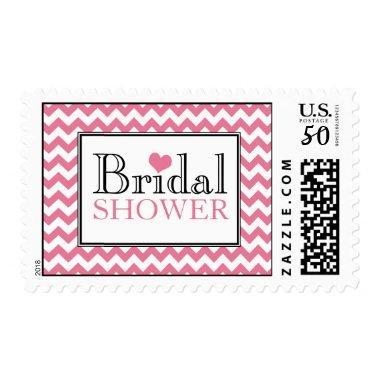 Chevron Pink & White  Postage Stamps