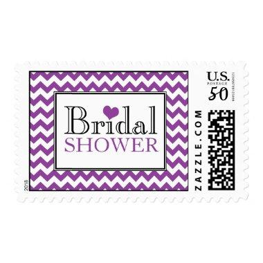 Chevron Purple White  Postage Stamps