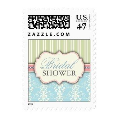 Chic Damask & Stripe  Postage