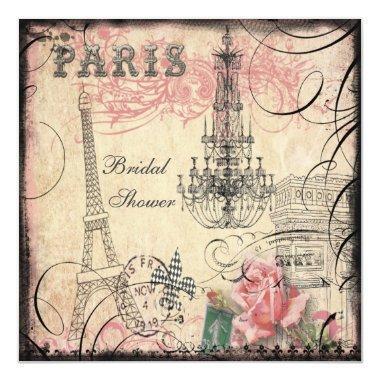 Chic Eiffel Tower & Chandelier
