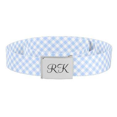 Chic gingham monogram belt