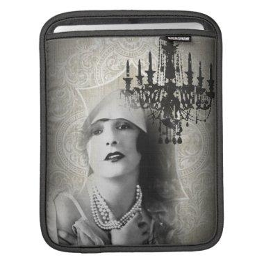 Chic Paris Vintage Chandelier great gatsby girl iPad Sleeve