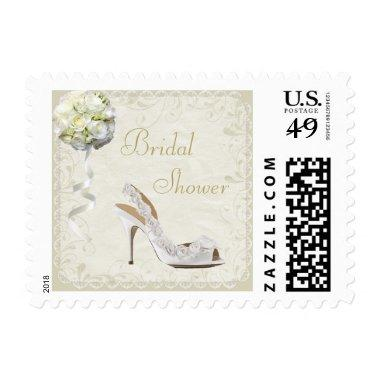 Chic Wedding Shoe & Bouquet  Postage