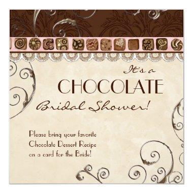 Chocolate Damask Swirl