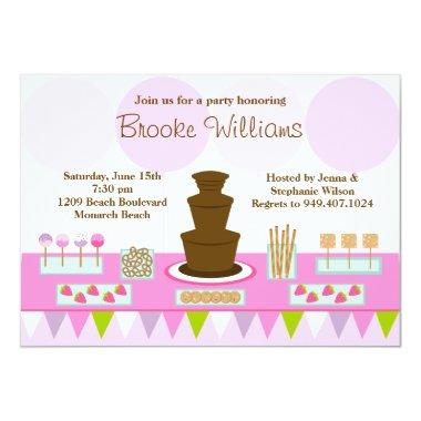 Chocolate Fountain Party Invitations