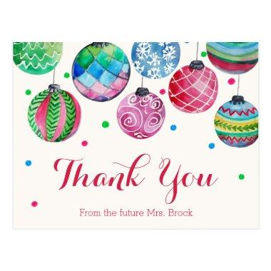 Christmas Ornaments Bridal Shower Thank You PostInvitations