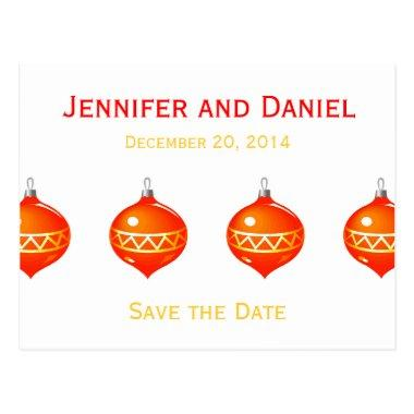 Christmas Save the Date Announcements Ornaments