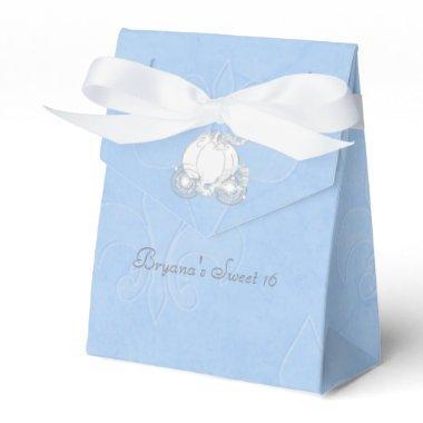 Cinderella Silver Carriage Blue Party Favor Boxes