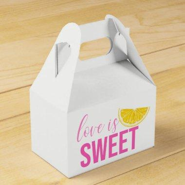 Citrus Bridal Shower Lemon Pink Wedding Summer Favor Box